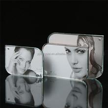 Elegant block beautiful glass 3d crystal photo frame