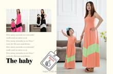 Family matching chevron clothing infant long dress toddler long dress