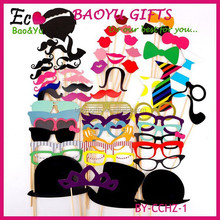 60Pcs/Set Fashion Funny Photo Booth Props Hat Mustache On A Stick Wedding Birthday Party Favor Wedding props Wedding decoration
