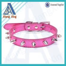 Top quality pink metal bullet spiked dog collar with 4 sizes in stock