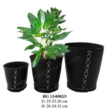 Vietnam recycled rubber flower planter/ Recycled rubber plant pot/ Rubber bucket (HG 13-0502/3)
