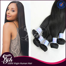 Double drawn 100% remy hair, unprocessed virgin brazilian hair extension , human hair weave cheap
