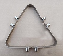 Nickle Plate Tent Pole Push Button Spring Snap Clip Locking Tube Pin Snap Spring Button V Shape