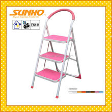 household steel indoor foldable easy store step safety ladder