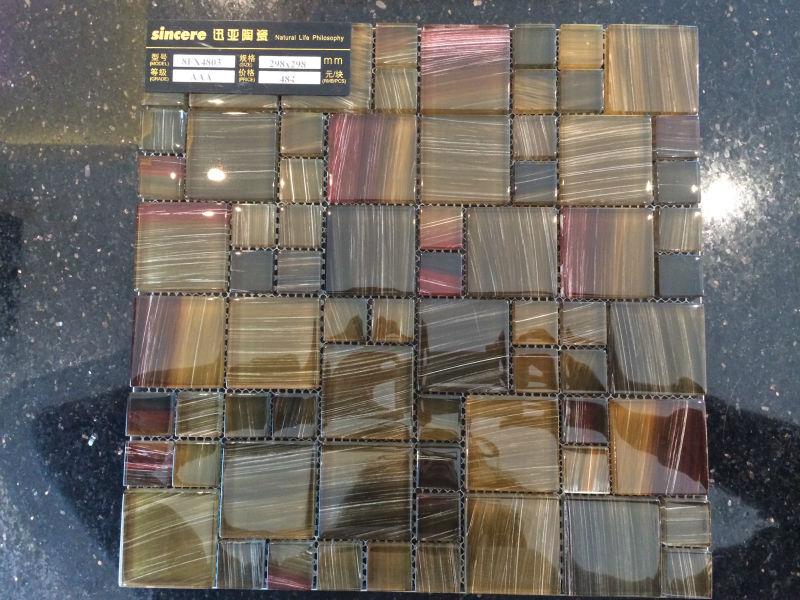 Nueva decoraci n llegada madera mosaico de azulejos para for Mosaico madera pared