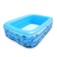 PVC Harmless material 3-ring inflatable pool inflatable swimming pool swim pool Suitable for all people
