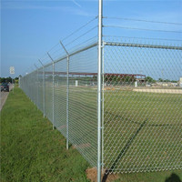 High quality diamond wire mesh sports court fence for residential or commmercial application