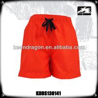 Short Style Bright Color Microfiber Fabric Beach Wear Plain Boardshorts