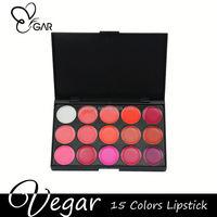 Fascinating 15 color Shinny Lipstick Palette custom lipstick