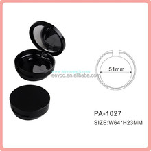 PA-1027 plastic cosmetic packaging compact powder case with mirror