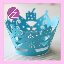 Laser cut paper butterflies wedding cupcake tree Christmas decoration DG-52 Haoze Brand