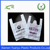 custom shape plastic bags for supermaket use with t-shirtbags