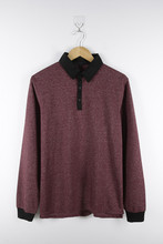 Cotton Polyester Casual Mens Sweatshirt with Collar
