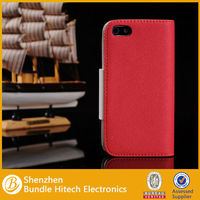 Good quality wallet Style PU cover TPU frame PU leather case for iPhone 5