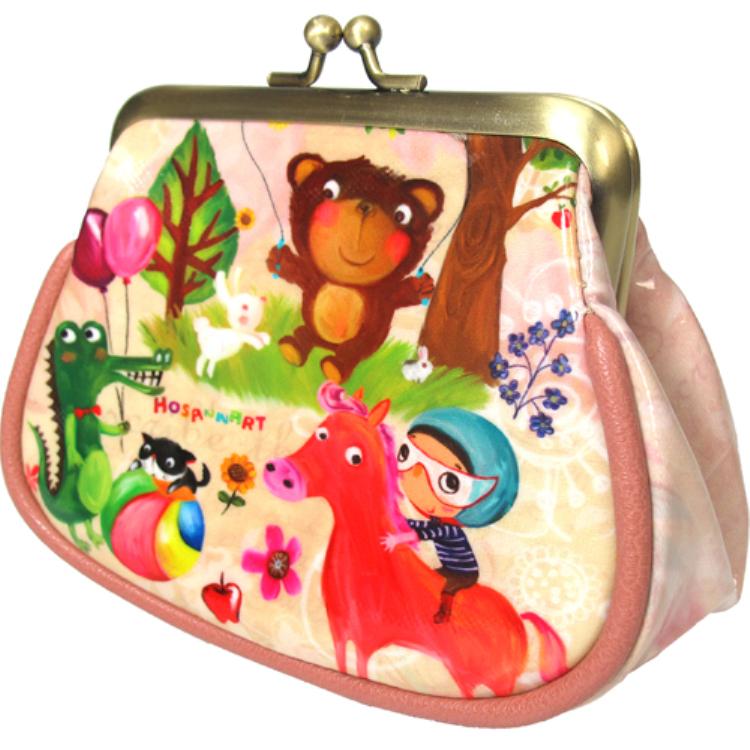 round zipper coin purse