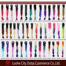 "24"" Ombre Braid, 43 Colors for Stock High Quality Jumbo Kanekalon Synthetic Ultra Yaki Hair Braids"