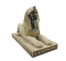 High quality classical Egypt style sandstone Egyptian sphinx statue for home Aquarium decoration crafts gift 12077
