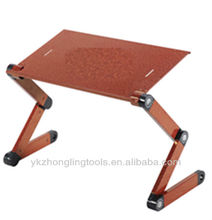 adjustable and foldable portable laptop table