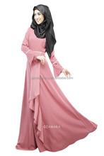 wholesale 2015 fashion design morocco ankle length chiffon ladies long sleeve muslim kaftan evening dress cheap abaya