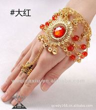 2012 wholesale indian accessory for women bracelet and ring for belly dance