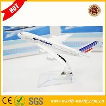 Hot sale quality 16CM France Airways B747 Air metal aeroplane model, Metal airplane toy