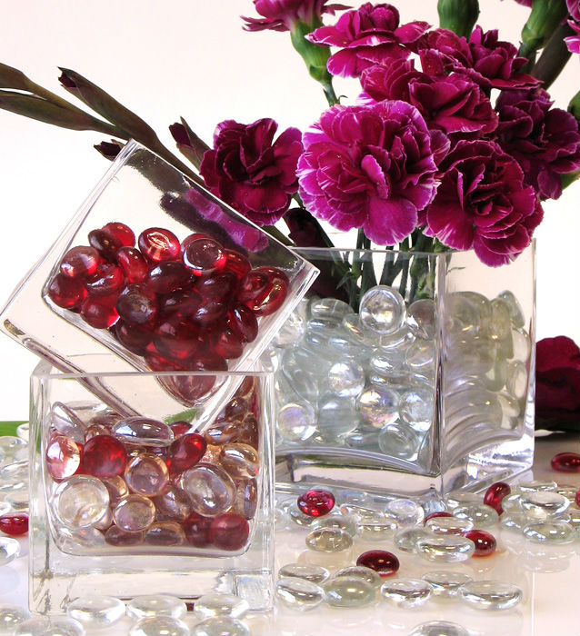 Luxurious Crystal Diamond Bead Vase Filler For Home Decors View