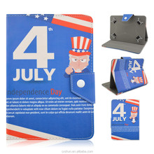July 4th America Independence Day Design PU Leather Flip Stand Universal Case Covers For 7/8/9/10inch Tablets PC