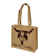 fancy jute bag/ jute tote bag with zipper/ jute plain bag