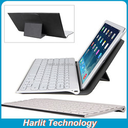 Folio Leather Cover With Bluetooth Keyboard For Tablet PC, Folding Leather Case With Keyboard Bluetooth