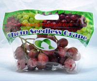 Plastic grape fruit zipper packaging bag