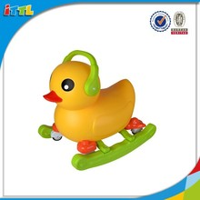 Big yellow duck ride on car,sliding car toy,rocking baby car toy