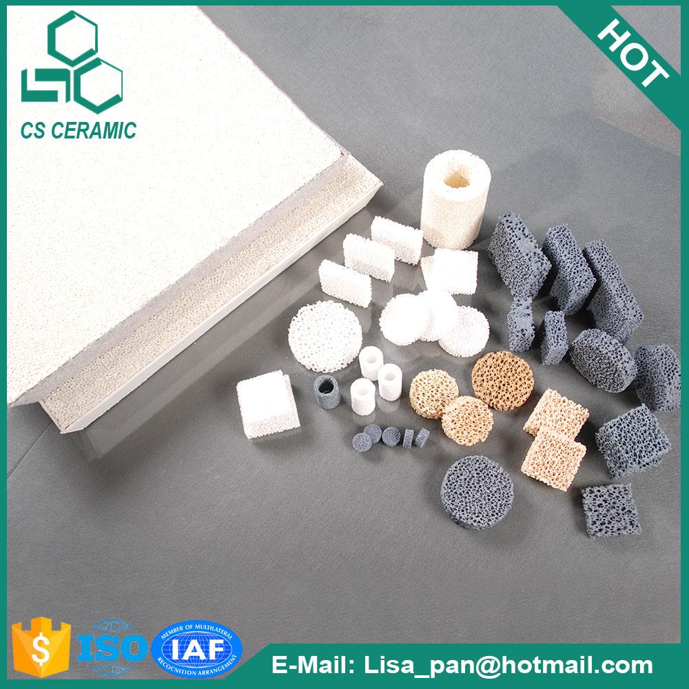 Adtech fuerte adsorción Al203 espuma cerámica placa de filtro para la filtración de aluminio fundido