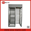 Stainless steel access control system automatic revolving full height turnstiles