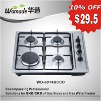 stainless steel 4 burner gas hob cooker