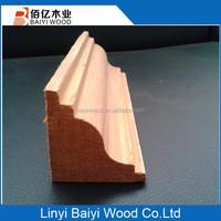 Chinese engineered teak wood corner wood moulding