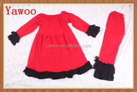 wholesale baby girls clothing sets christmas red winter baby clothes fancy dress ruffle pants taiwan children clothes