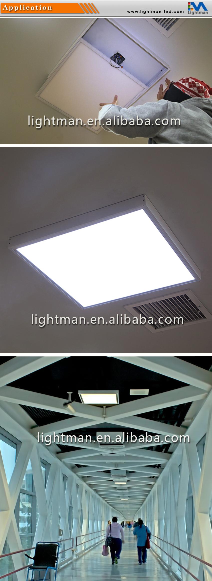 Ceiling tile light fixture
