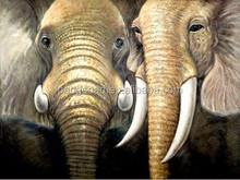 Wild animal decorative oil paintings,Custom canvas prints wall painting Wild Animal Elephant