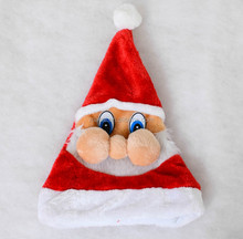 Wholesale in stock christmas decorations funny santa Christmas hats