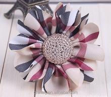 British Classical Hair Accessories plaid types of flower hair elastic band
