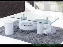 S-shape MDF board modern coffee table bases for glass tops JY-01
