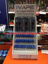 e-liquid cardboard counter display pop storage box retail display stand rack