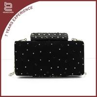 Black VELVET crystal Evening Bags hobo wallets on sale