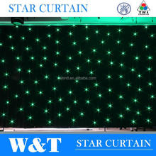 W&T Excellent indoor led star curtain velvet drapes with high quality