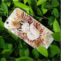 Charming Color Drawing Relievo Enchase Funny Color Painted Embossed 3D Polymer Case Cover For iPhone 6/ 6Plus