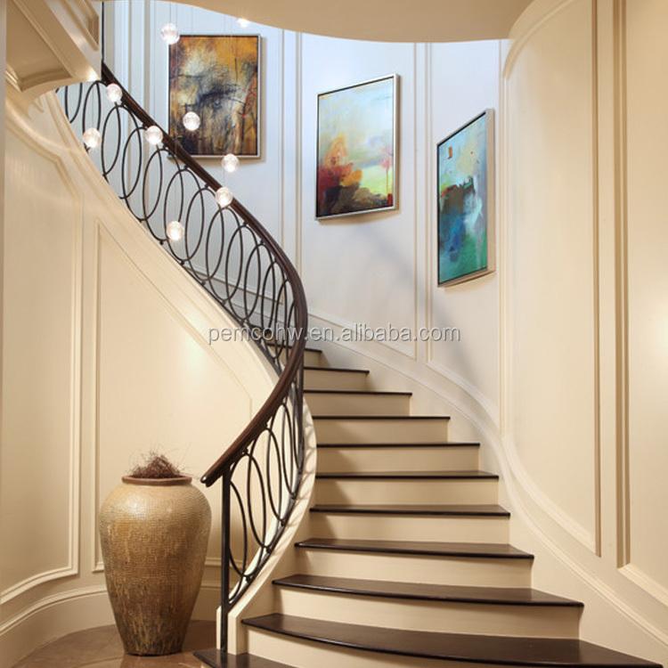 Para indoor escalera transparente removible de acero for Pasamanos de escaleras exteriores