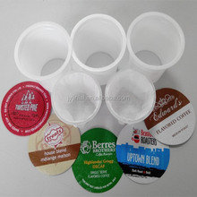 China factory directly supply 51.7mm empty k-cup with foil lid