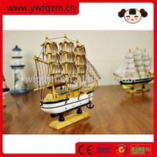 wholesale mini wooden boat wooden sailing bot children toys