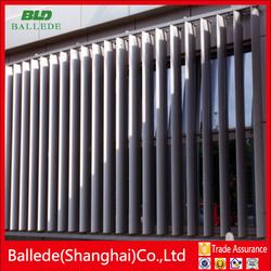 external architectural aluminum airfoil louver frame