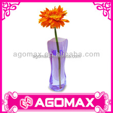 Fashion design reusable plastic flower vase